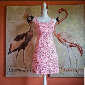 Tommy Bahama Sleeveless Mini Dress Speckle Coral S